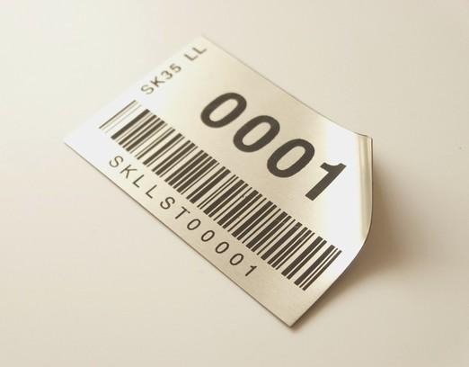 Štítek s EAN kódem - fóliová etiketa
