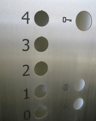Nerez panel tablo výtahu