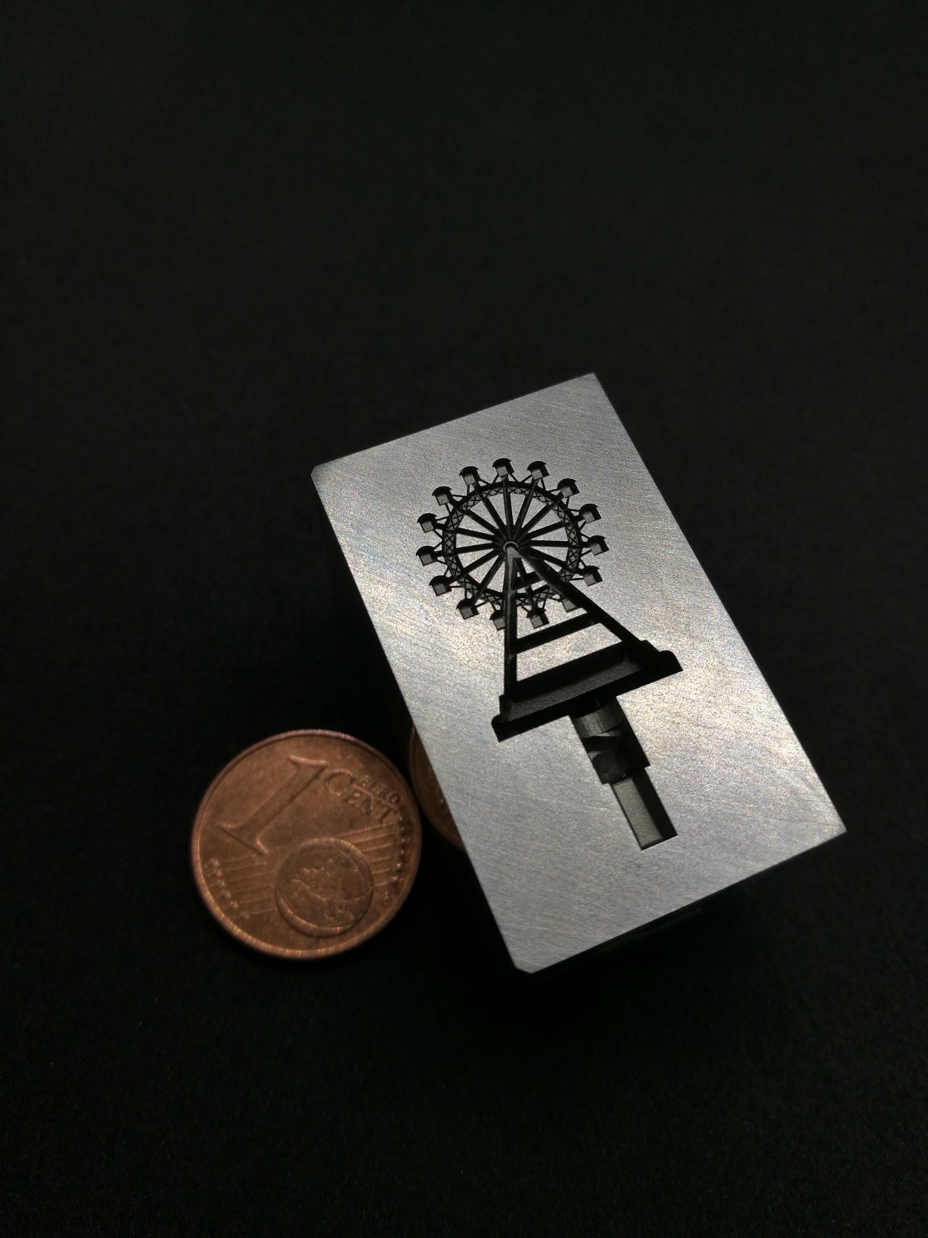 3D gravírování oceli